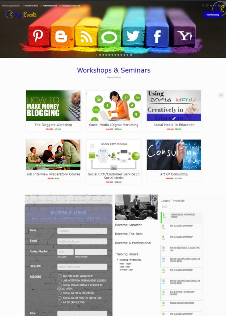 Dgu Workshop Website Design