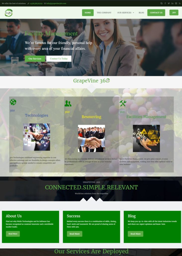 Grapevine 360 Website Design