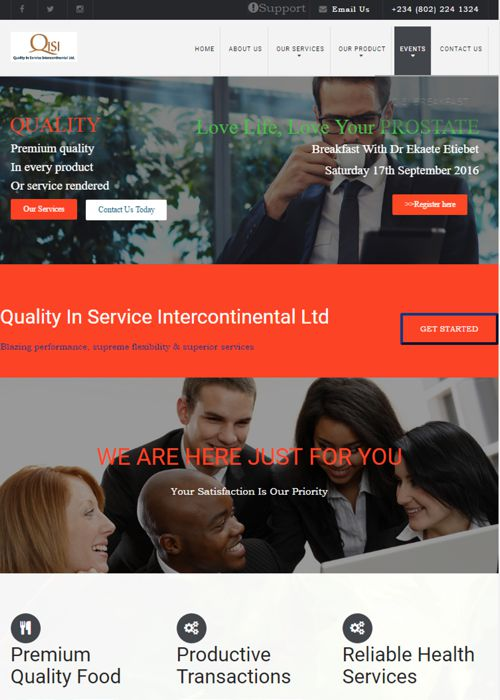 Qisi Limited Website Design